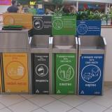 Контейнеры для раздельного сбора мусора в ТЦ